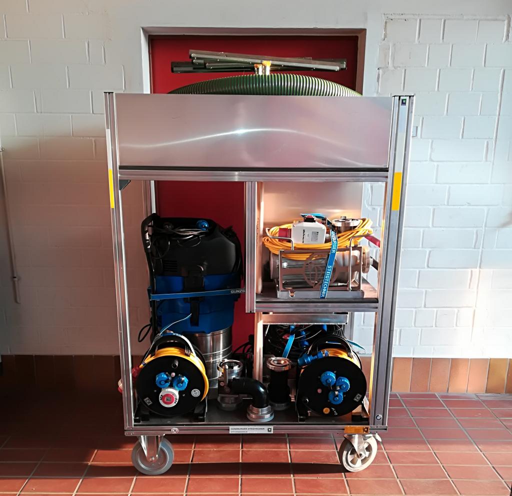 Rollwagen Wasserschaden – Feuerwehr Ehlen